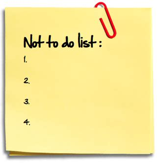what not to do not to do list the write world