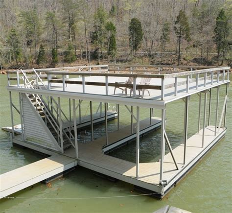 used boat lifts for sale tennessee boat dock with upper level deck patio on norris lake