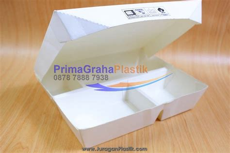 Paper Lunch Box L Lunch Box Kertas Kotak Kertas Food Container pin lauk 3 4 6 cake on