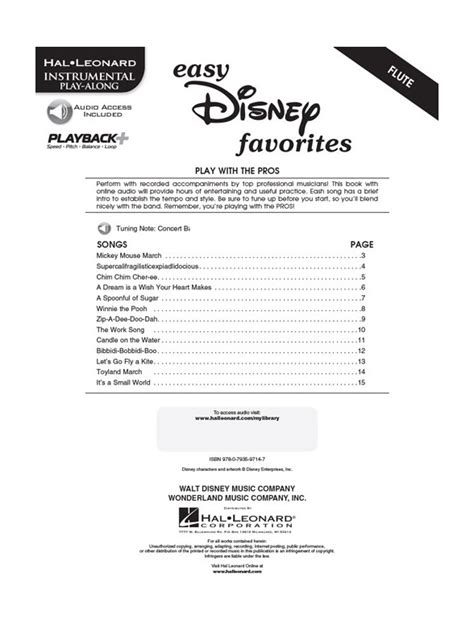0035200944 play disney songs flute traversiere easy disney favorites for flute fl 251 te traversi 232 re