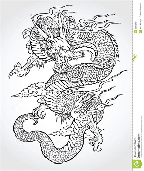 traditional asian dragon stock vector illustration of