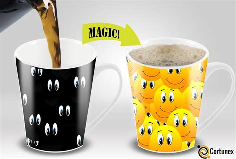 Coffee Magic magic coffee mugs travel mug heat sensitive color changing