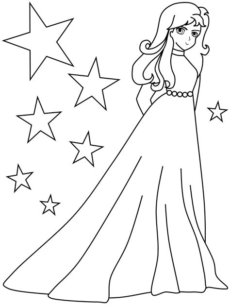 coloring pages of girl stuff beautiful girl colouring page coloring pages for girls