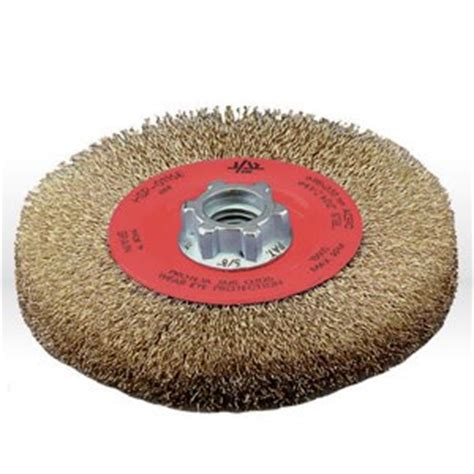 bench wire wheel 78000 jaz usa wire wheel bench brush 4 1 2 quot crimped 012