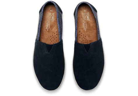 Nike Smith Suede Slip On Abu lyst toms navy suede and herringbone s avalon slip ons in blue for