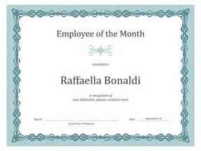 Employee Of The Month Poster Template by Certificate For Employee Of The Month Blue Chain Design