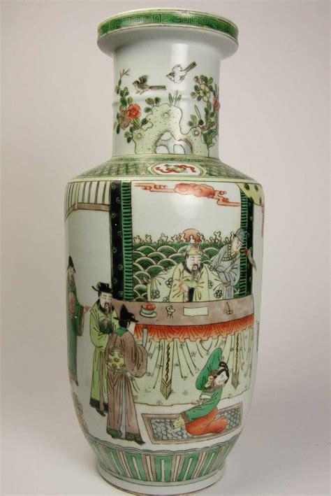 Famille Vase by A Famille Verte Vase Kangxi Decorative Arts