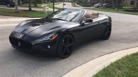 maserati granturismo matte black for sale satin matte black maserati granturismo wrapped