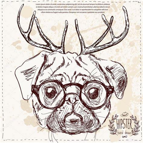 imagenes de feliz navidad hipster dibujar perro hipster navidad con mano de cuernos de