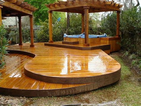 backyard deck designs deck and jacuzzi gazebo decks pinterest decks