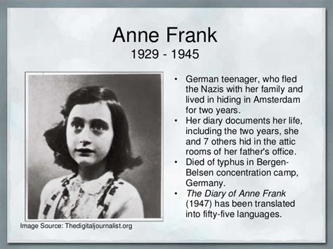 anne frank picture book biography the diary of anne frank anne frank house know it all