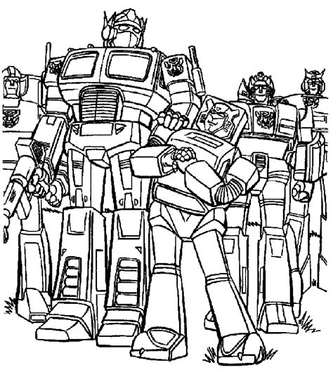 optimus prime simple coloring page