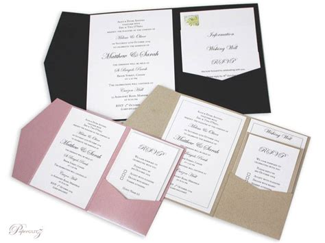 invitation pocket template new diy pocket folds more sizes wedding invitations