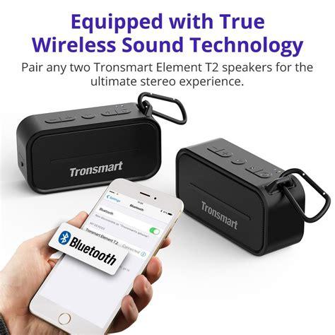 Tronsmart Element Portable Waterproof Bluetooth Speaker T2 מוצר tronsmart element t2 bluetooth 4 2 outdoor water resistant speaker portable mini speaker