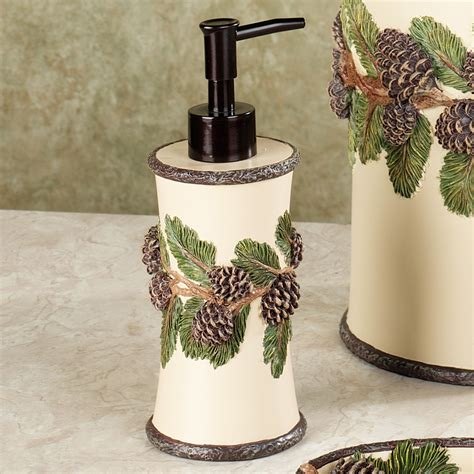 pine cone bathroom accessories pinehaven rustic pine cone bath accessories