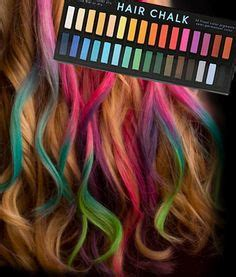 chalk paint your hair glow in the paint let your light shine through