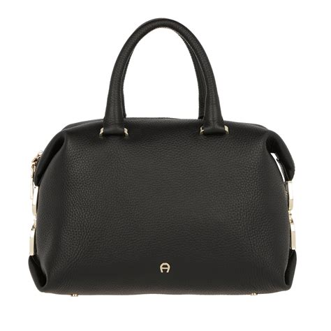 Roma Black aigner premium aigner roma leather tote black in schwarz