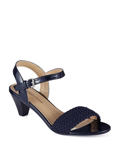 adrienne vittadini sandals adrienne vittadini carinda woven leather heeled sandals in