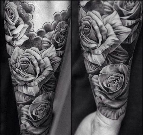black and grey rose tattoo sleeve men s black gray tattoos black and grey rose tattoos