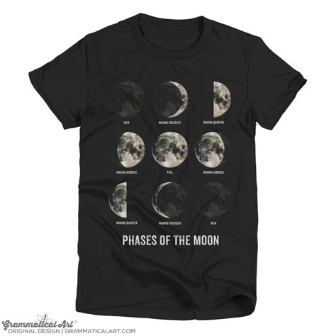 T Shirt Moon moon shirt moon phase shirt moon t shirt science by