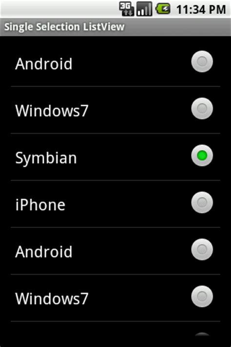 single selection listview in android – coderzheaven