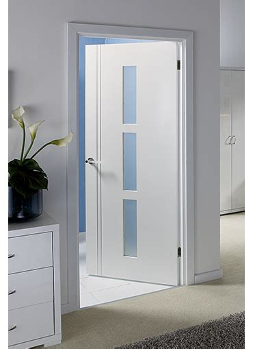 Interior Glass Doors White Blanco Pre Glazed Interior Door