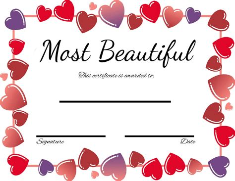 printable gift certificates for wife 29 images of romantic funny certificate template