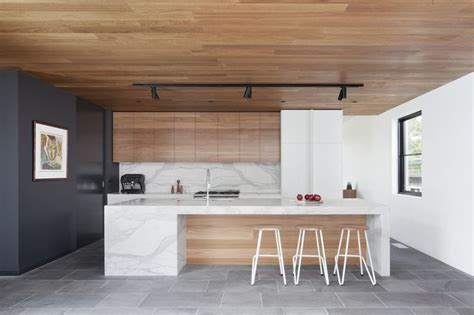 modern kitchen west coast wooden ceiling modern