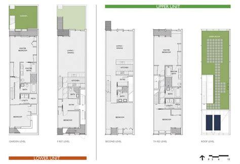 home design for rectangular plot departamentos estrechos flats plataforma arquitectura