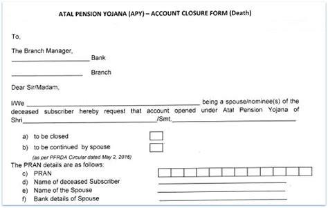Sbi Account Transfer Letter Format In Atal Pension Yojana Apy Govt Scheme Details Benefits
