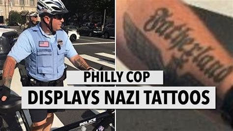 philly cop displays tattoos youtube