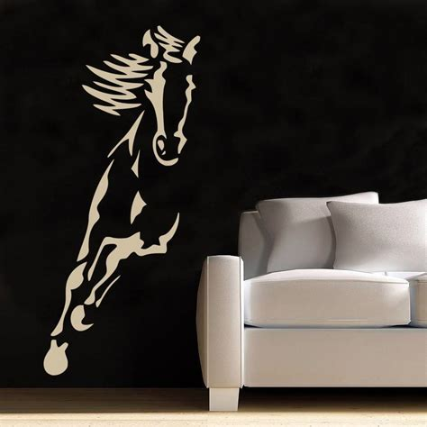 silhouette home decor riding horse decal wall sticker art home decor stencil