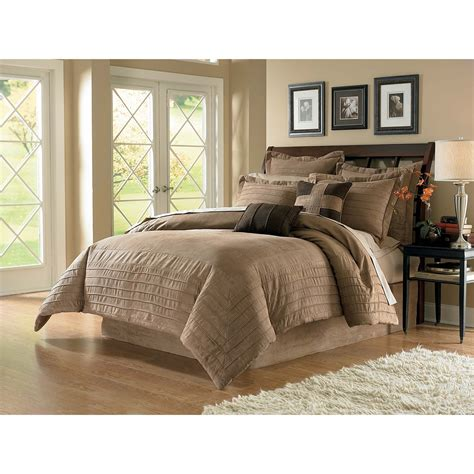 cannon tan microsuede comforter set home bed bath