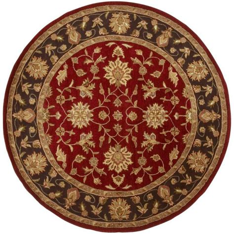 Artistic Weavers Palinges Burgundy Wool Round 8 Ft Area 8 Ft Area Rugs