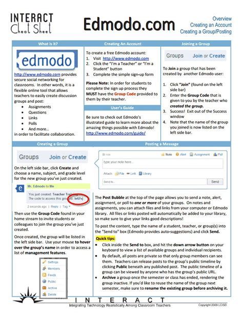 tutorial edmodo español pdf edmodo getting started pdf tech for school pinterest