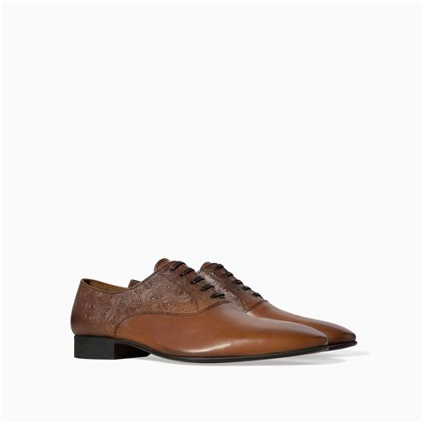 zara shoes zara brushed leather oxford shoe in brown for tobacco