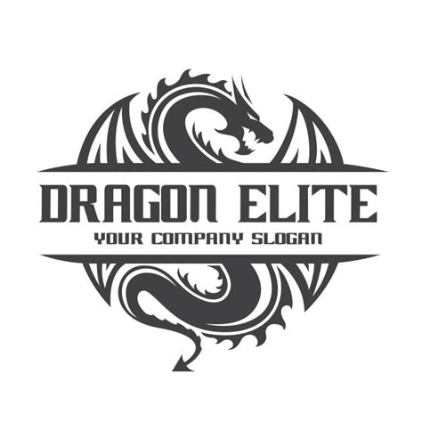 dragon logo template vector premium download