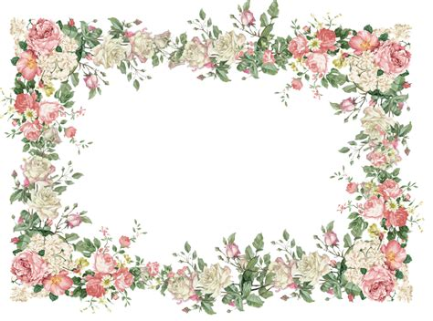 flower frame template flower frame page borders scrapbook frames and silhou