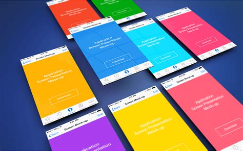 material design mockup psd app screen presentation mockups freebies fribly