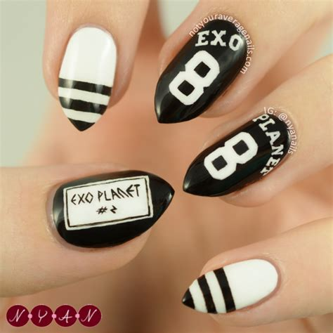 tutorial nail art exo n y a nails exo planet 2 the exo luxion