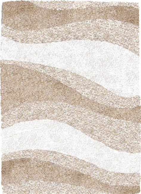 retro shag ivory beige waves area rug 6x8
