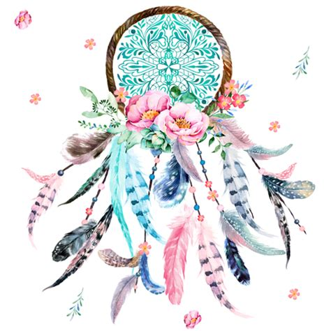 8 quot pink amp aqua dreamcatcher fabric shopcabin spoonflower