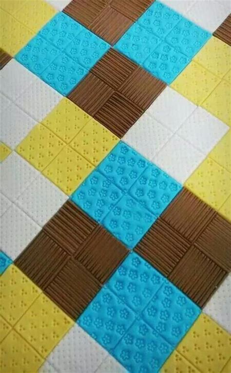 quilting cake tutorial fondant quilting cake tutorials templates toppers