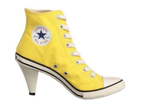 high heel converse all converse all high heel l sneakers stiletto yellow ebay