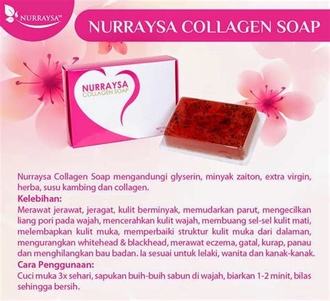 Nurraysa Collagen Soap nurraysa collagen soap original murah berkesan tiptop shop
