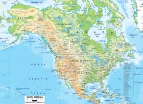 Usa Physical Map by Physical Map Of North America Ezilon Maps