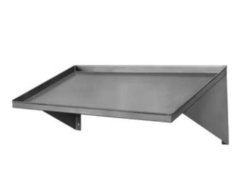 cma 12620 00 42 quot slanted rack shelf stainless steel wall