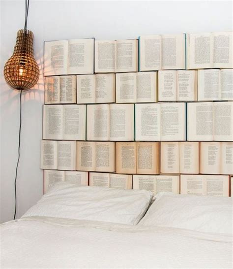 diy book headboard gorgeous diy headboards for a charming bedroom