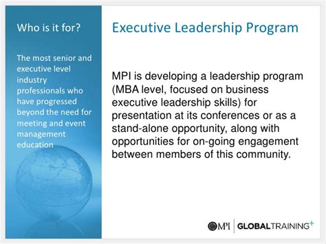 Executive Mba Stands For by Mpi Global Presentation