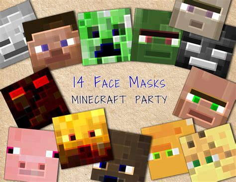 printable creeper mask party face masks birthday party printables littlelight